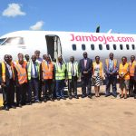 Jambojet Maiden Flight Arrives in Entebbe, Uganda