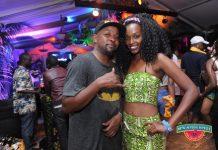 City MC Hypeman and a female reveler at the festival