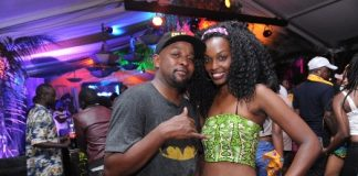 City MC Hypeman and a female reveler at the festival