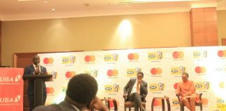 keynote speakers at the launch of the MTN Momo Card