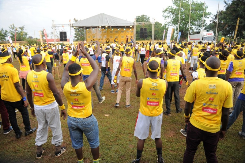 A wide view of the particpants at the MTN Marathon Mbale