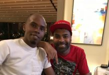 Ginuwine chilling with Alex Muhangi