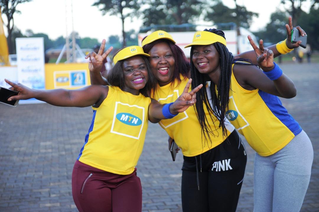 Jubilant participants during the Marathon