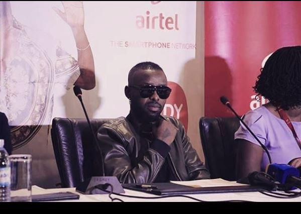 Eddy Kenzo during the press conference at Kampala Serena Hotel