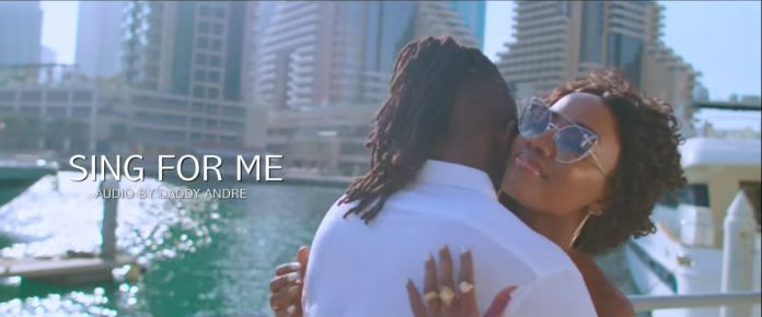 Lydia Jazmine with Prince Omar in the video