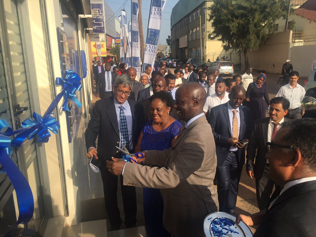 The Ribbon Cutting Exim Bank