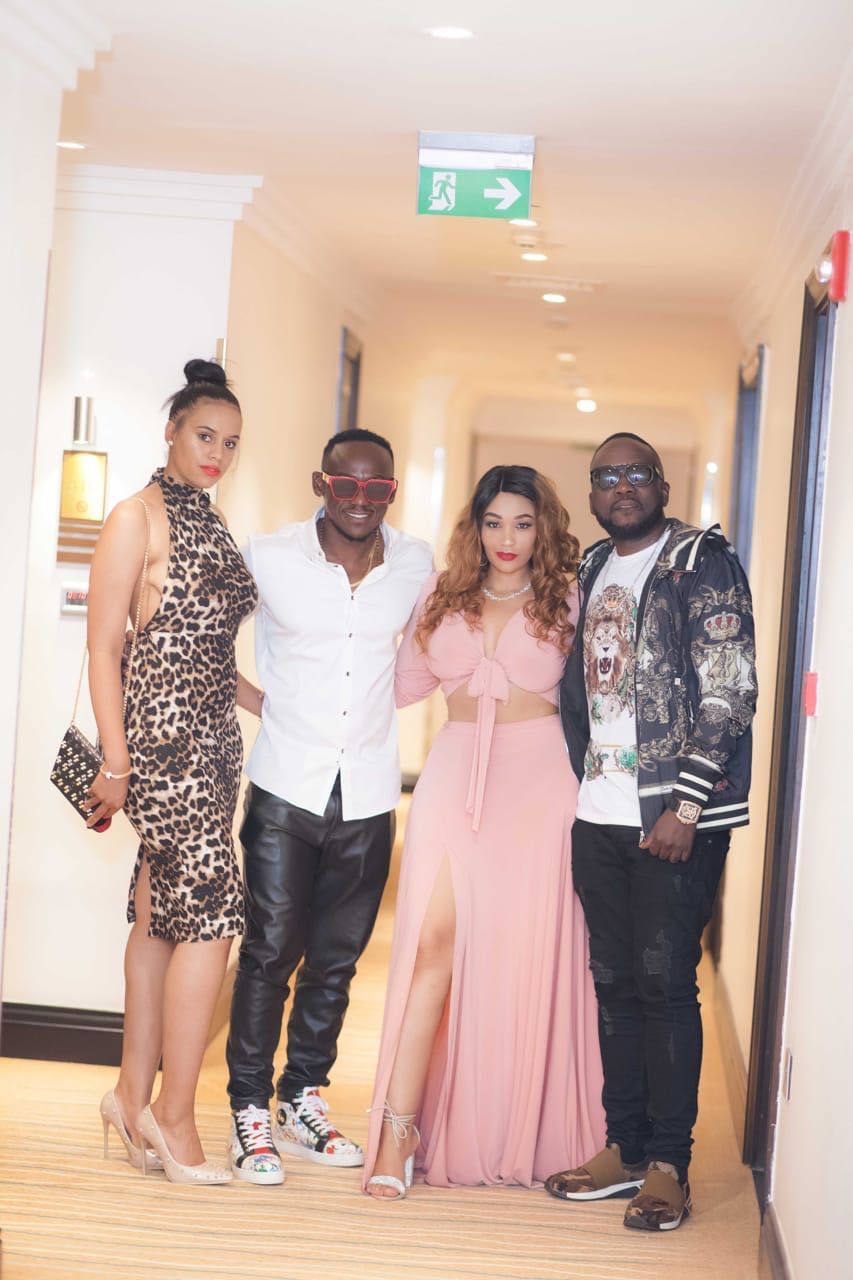 Zari with Ed Cheune, Adam Zee Ddumba and her Sister