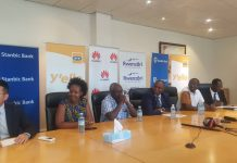 Some of the MTN officials making the announcement earlier today