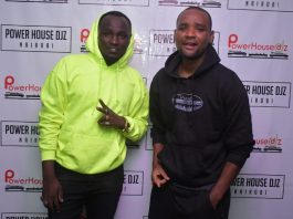 Jaymoh and Dj westii during one the brand Nights in Nairobi