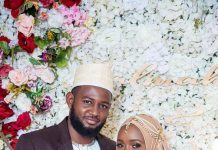 Uganda Cranes Goal Keeper Salim Jamal and his bride
