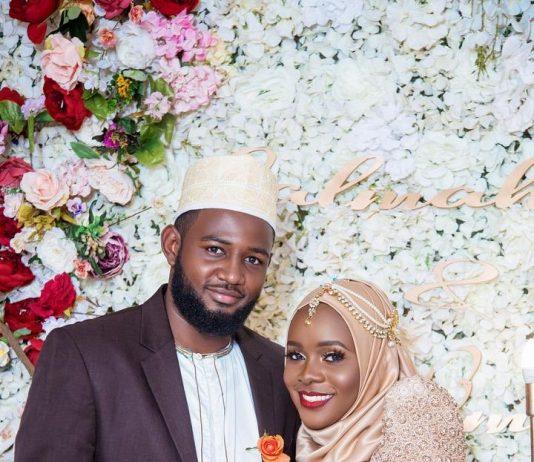 Uganda Cranes Goal Keeper Salim Jamal and his bride